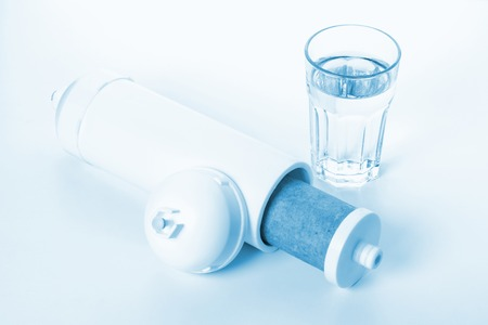 filtration: inside of white cartridge for water filtration