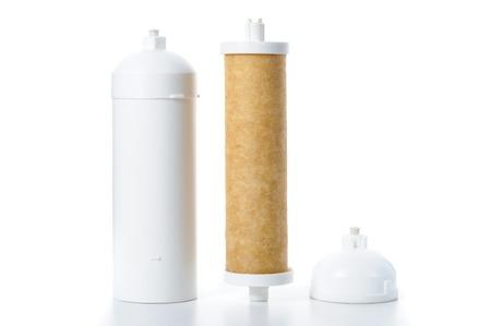 filtration: cartucho usado para la filtraci�n de agua Foto de archivo