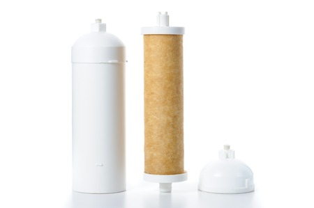 filtration: used cartridge for water filtration