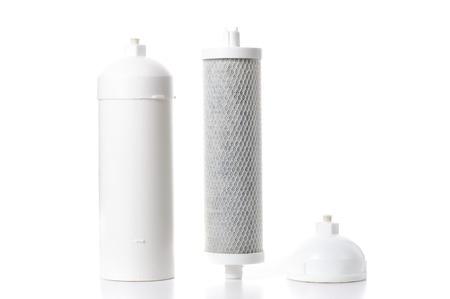 filtration: cartucho usado para la filtraci�n de agua, filtro de carb�n activado