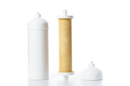 filtration: filtro de membrana de ultrafiltraci�n usada para la filtraci�n de agua Foto de archivo