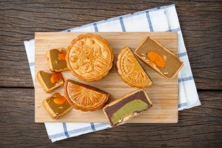 Mooncake, chinois Mid-Autumn Festival le dessert Banque d'images
