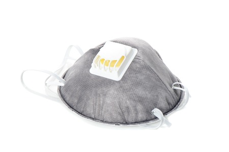 équipement de sécurité respiratoires gris isolé sur fond blanc Banque d'images