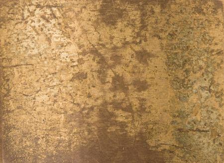 oude koperen plaat textuur achtergrond Stockfoto