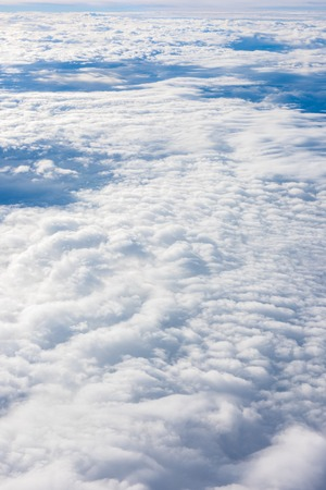 skyscapes: over the white cloud, view from airplane