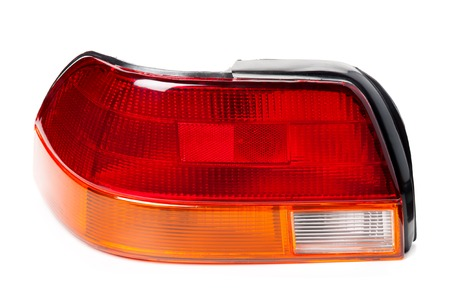 reversing: new tail lamp and break lamp isolated on white background Stock Photo