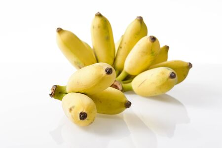 isolate bunch of ripe cultivated banana on white background