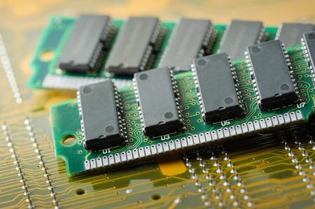 closeup SIMM 72-pin RAM Stock Photo