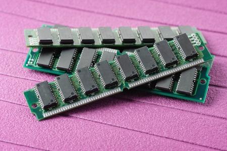 gigabytes: closeup SIMM 72-pin RAM Stock Photo
