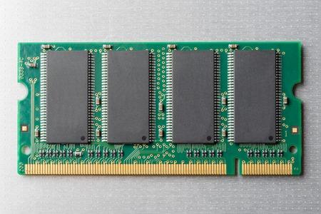 closeup details of computer memory (RAM) Stock Photo