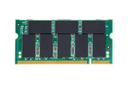 dimm: closeup DDR RAM for laptop isolated on white background Stock Photo