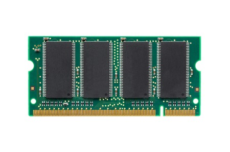 ddr: closeup DDR RAM for laptop isolated on white background Stock Photo