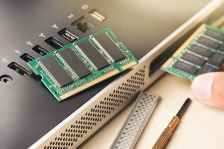 dimm: computer memory (RAM), Upgrading the personal computer.