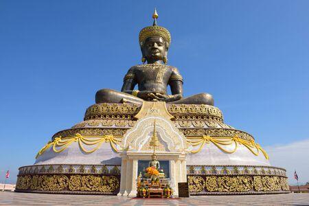 december 25: PETCHABUN, THAILAND - DECEMBER 25, 2014: The black buddha statue in Petchabun province.