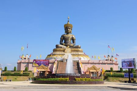 dhamma: PETCHABUN, THAILAND - DECEMBER 25, 2014: The black buddha statue in Petchabun province.
