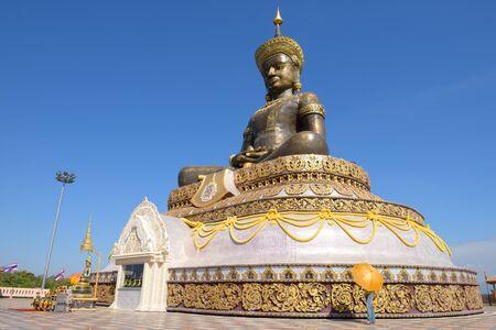 retreats: PETCHABUN, THAILAND - DECEMBER 25, 2014: The black buddha statue in Petchabun province.