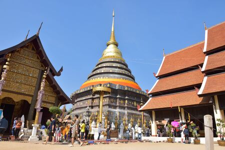 that: LAMPANG, THAILAND - DECEMBER 27, 2014: Wat Phra That Lampang Luang. Wat Phra That Lampang Luang is a Lanna-style Buddhist temple in Lampang, Thailand.
