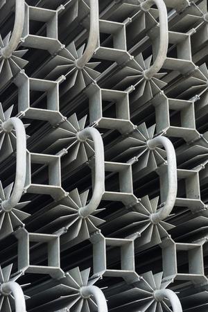 closeup details of heat exchangers