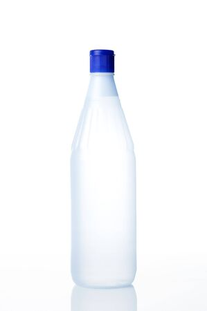 distilled water: Distilled water for refill cars battery on white background