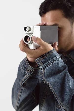 vdo: old vintage VDO camera in hand