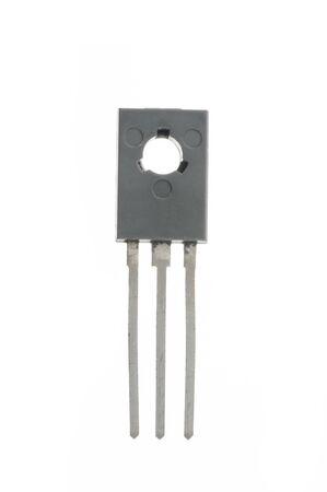 transistor: Closeup detail of transistor on white background