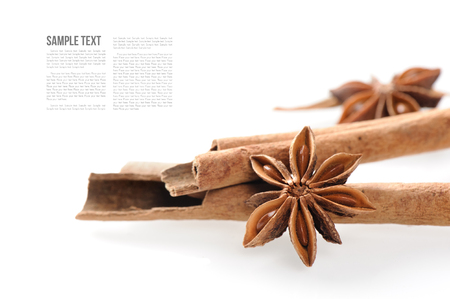 fragrant: fragrant cinnamon sticks and star anise Stock Photo