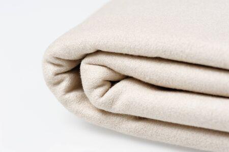 microfiber: closeup folded microfiber towel on white background Stock Photo