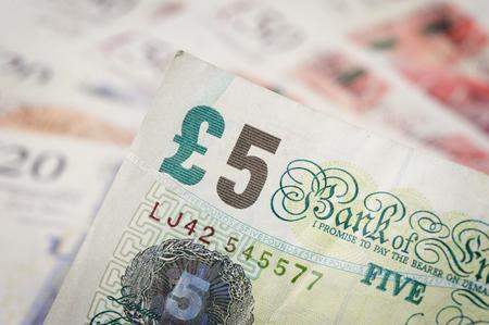 sterling: primo piano Banconote della sterlina