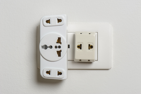 adapters: Different universal plug adapters, travel adapters