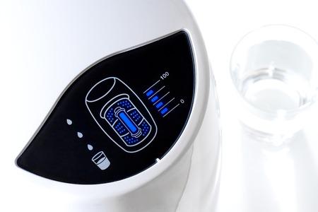 purify: closeup filter indicator of water purifier