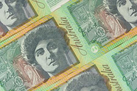one hundred dollar bill: closeup details of Australian one hundred dollar bill