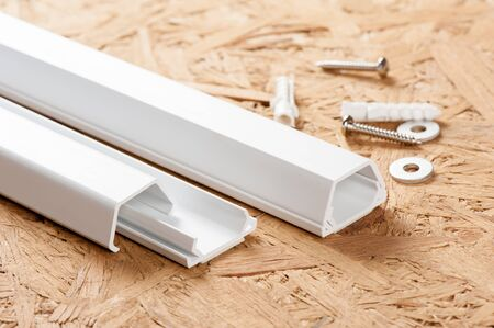 easy install white plastic wiring duct