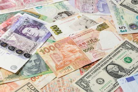 different countries: abstract bank notes from different countries