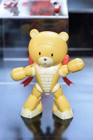 panoply: CHONBURI, THAILAND - MAY 17, 2015: Plasic model of Bearcguy III on display at J-Park Sriracha.