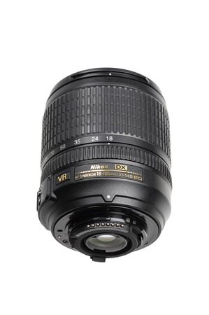 afs: BANGKOK, THAILAND - MAY 14, 2015: The Nikon 18-105mm f3.5-5.6G AF-S lens. This lens was announced in August 2008 by Nikon