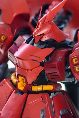 panoply: CHONBURI, THAILAND - MAY 17, 2015: Closeup MSN-04 Sazabi Ver. Ka model at J-Park Sriracha.