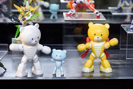 panoply: CHONBURI, THAILAND - MAY 17, 2015: Plasic model of Beargguy F and Bearcguy III on display at J-Park Sriracha. Editorial