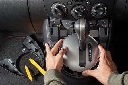disassembly: disassembly the center console of the car