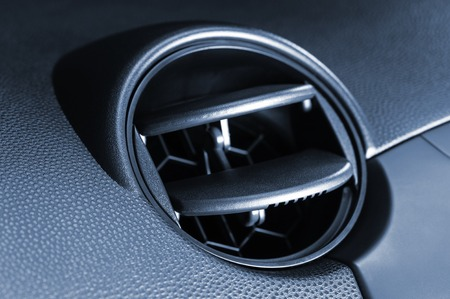 Closeup Air Ventilation System In Modern Car Stock Photo Picture