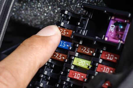 car fuse: replacing the fuse in fuse box of the car