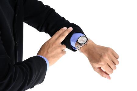human wrist: luxury watch on businessmans wrist