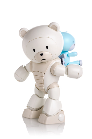 panoply: CHONBURI, THAILAND - AUGUST 10, 2015: Plastic model of Beargguy F (Family) over white background.