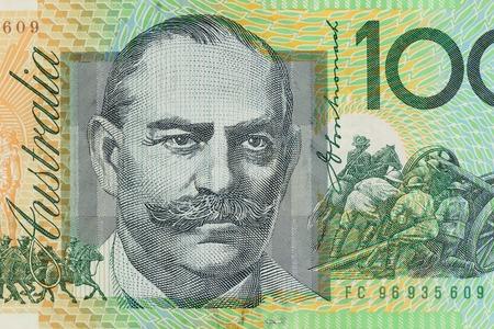 one hundred dollar bill: BANGKOK, THAILAND - AUGUST 04, 2015: Details of Australian one hundred dollar bill. Editorial