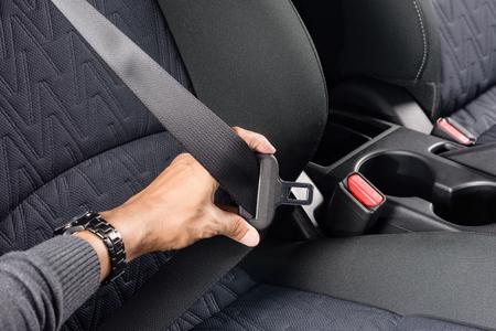 seatbelt: closeup automobile safety belt (seat belt)