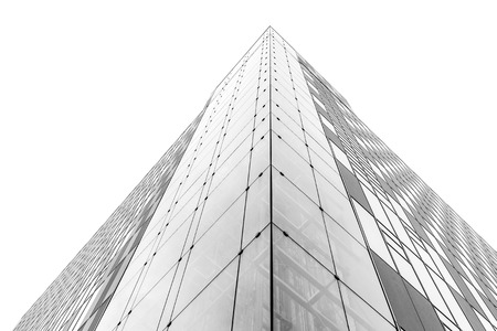 corporate buildings: abstract facade of modern building