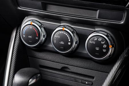 conditioner: car air conditioner switch, temperature switch Stock Photo