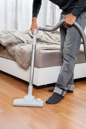vacuum cleaner: cleaning home with vacuum cleaner