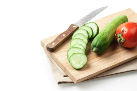 cucumbers: fresh cucumbers isolated on white background