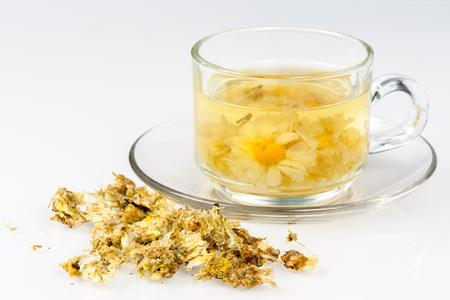 tea from dried chrysanthemum flowers