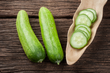 cucumbers: fresh cucumbers and sliced cucumbers